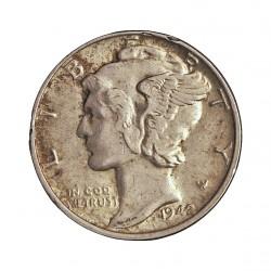 Usa 1 Dime. 1942. Filadelfia. AG. 2,5gr. Ley:0,900. (Tipo Mercurio). Ø18mm. MBC. KM. 140