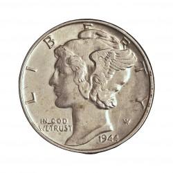 Usa 1 Dime. 1944. Filadelfia. AG. 2,5gr. Ley:0,900. (Tipo Mercurio). Ø18mm. EBC/EBC+