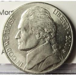 Usa 5 Ctvo. 2001. D-(Denver). CUNI. 5gr. (Monticello). Ø21,2mm. SC-. KM. A192
