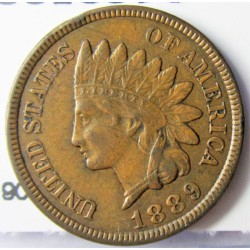 Usa 1 Cent. 1889. AE. 3,11gr. Ø19mm. EBC/MBC. (Dos rayitas en rev.). KM. 90a