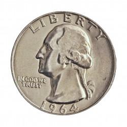 Usa ¼ Dolar. 1964. Filadelfia. AG. 6,25gr. Ley:0,900. Ø24mm. SC-/SC. (Su tono original). KM. 164