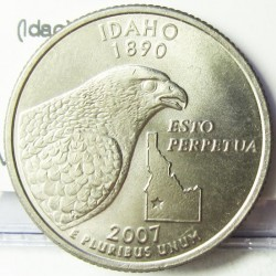 Usa ¼ Dolar. 2007. D-(Denver). CUNI. 5,67gr. (Idaho). Ø24mm. SC. KM. 398