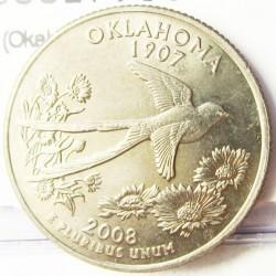 Usa ¼ Dolar. 2008. D-(Denver). CUNI. 5,67gr. (Okahoma). Ø24mm. SC. KM. 421