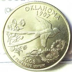 Usa ¼ Dolar. 2008. P-(Fildelfia). CUNI. 5,67gr. (Okahoma). Ø24mm. SC. KM. 421