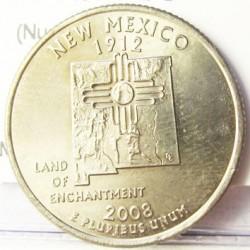 Usa ¼ Dolar. 2008. P-(Fildelfia). CUNI. 5,67gr. (Nuevo Mejico). Ø24mm. SC. KM. 422
