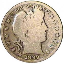 Usa ½ Dolar. 1899. S-(St.Francisco). AG. 12,5gr. Ley:0,900. (Barber). Ø30mm. BC/BC+. KM. 116