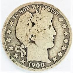 Usa ½ Dolar. 1900. O-(Nw.Orleans). AG. 12,5gr. Ley:0,900. Ø30mm. MC+/RC-. MUY ESCASO/A. KM. 116