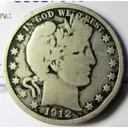 Usa ½ Dolar. 1912. Filadelfia. AG. 12,5gr. Ley:0,900. Ø30mm. MC+/RC-. KM. 116