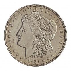 Usa 1 Dolar. 1921. Filadelf. AG. 26,73gr. Ley:0,900. (Tipo Morgan). Ø37mm. MBC+. KM. 110