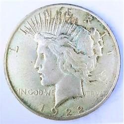 Usa 1 Dolar. 1922. Filadelfia. AG. 26,73gr. Ley:0,900. (Tipo Paz/Peace). Ø37mm. MBC/MBC+. KM. 150