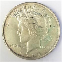Usa 1 Dolar. 1922. Filadelfia. AG. 26,73gr. Ley:0,900. (Tipo Paz/Peace). Ø38mm. EBC+/SC-. KM. 150