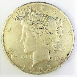 Usa 1 Dolar. 1923. D-(Denver). AG. 26,73gr. Ley:0,900. (Imagen tipo). (Tipo Paz/Peace). Ø38mm. MBC-/MBC. KM. 150