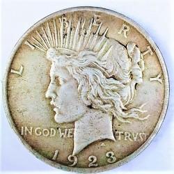 Usa 1 Dolar. 1923. Filadelfia. AG. 26,73gr. Ley:0,900. (Tipo Paz/Peace). Ø38mm. MBC+. (Gpcito.cto.). KM. 150