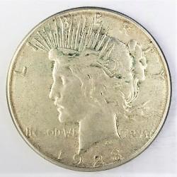 Usa 1 Dolar. 1923. S-(St.Francisco). AG. 26,73gr. Ley:0,900. (Tipo Paz/Peace). Ø38mm. MBC+. KM. 150