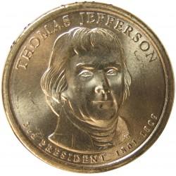 Usa 1 Dolar. 2007. D-(Denver). CU/ZN. 8,02gr. (Serie Presidentes-3º/T.Jefferson-1801/09). Ø26mm. SC