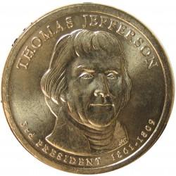 Usa 1 Dolar. 2007. P-(Fildelfia). CU/ZN. 8,02gr. (Serie Presidentes-3º/T.Jefferson-1801/09). Ø26mm. SC