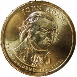Usa 1 Dolar. 2007. P-(Fildelfia). CU/ZN. 8,02gr. (Serie Presidentes-2º/Jhon Adams-1797/1801). Ø26mm. SC