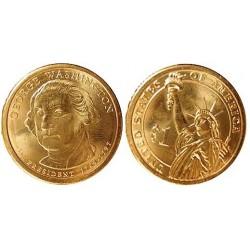 Usa 1 Dolar. 2007. P-(Fildelfia). CU/ZN. 8,02gr. (Serie Presidentes-1º/G.Wasington-1789/97). Ø26mm. SC