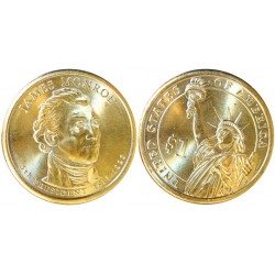 Usa 1 Dolar. 2008. D-(Denver). CU/ZN. 8,02gr. (Serie Presidentes-James Monroe). Ø26mm. SC
