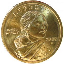 Usa 1 Dolar. 2008. D-(Denver). CU/ZN. 31,1gr. (Sacagawea-India con niño). Ø26mm. SC