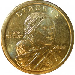 Usa 1 Dolar. 2008. P-(Filadelf.). CU/ZN. 31,1gr. (Sacagawea-India con niño). Ø26mm. SC