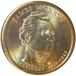 Usa 1 Dolar. 2008. P-(Fildelfia). CU/ZN. 8,02gr. (Serie Presidentes-James Monroe). Ø26mm. SC