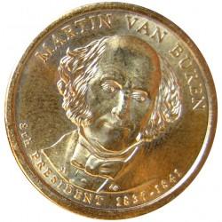 Usa 1 Dolar. 2008. P-(Fildelfia). CU/ZN. 8,02gr. (Serie Presidentes-Martin Van Buren). Ø26mm. SC