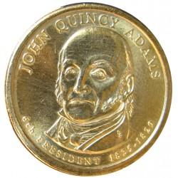 Usa 1 Dolar. 2008. P-(Fildelfia). CU/ZN. 8,02gr. (Serie Presidentes-J.Quincy Adams). Ø26mm. SC