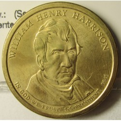 Usa 1 Dolar. 2009. D-(Denver). CU/ZN. 8,02gr. (Serie Presidentes-W.H.Harrison). Ø26mm. SC