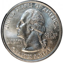 Usa Serie. 2007. D-(Denver). CUNI. 5,67gr. (5x1/4 $-Idaho/Montana/Utah/Washington y Wyoming). Ø24mm. SC. KM. No Cita