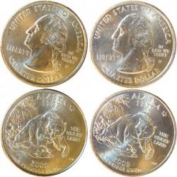 Usa Serie. 2008. D-Denver y P-Filadelfia. CUNI. 5,67gr. (2x1/4 $-Alaska). Ø24mm. SC