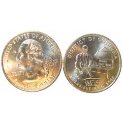 Usa Serie. 2009. D-Denver y P-Filadelfia. CUNI. 5,67gr. (2x1/4 $-Columbia). Ø24mm. SC
