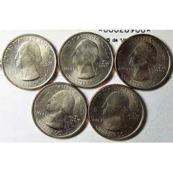 "Usa Serie. 2010. (""Parques Nacionales""). P-(Filadelfia). CUNI. 5,67gr. (5 de 1/4 $-M.Hood,H.Springs,Yosemite,Yellowstone,G.Canyo"