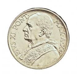 Vaticano 5  Lira. 1931. AG. 5gr. Ley:0,835. (Año X-JUVILEO). Ø22,5mm. SC. KM. 7