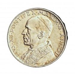 Vaticano 5  Lira. 1940. AG. 5gr. Ley:0,835. (Año II). Ø22,5mm. SC. KM. 28