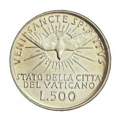 Vaticano 500  Lira. 1958. AG. 11gr. Ley:0,835. Ø29mm. SC. (Lev.patina). KM. 57