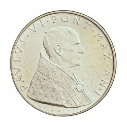Vaticano 500  Lira. 1963. AG. 11gr. Ley:0,835. (Año I). Ø29mm. SC. KM. 83.1