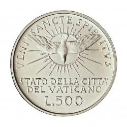 Vaticano 500  Lira. 1963. AG. 11gr. Ley:0,835. (). Ø29mm. SC. KM. 75