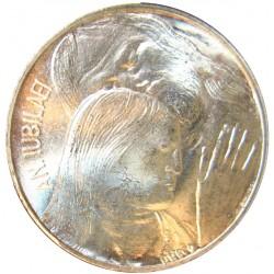 Vaticano 500  Lira. 1975. AG. 11gr. Ley:0,000. (Año Jubilar). Ø29mm. SC. KM. 131