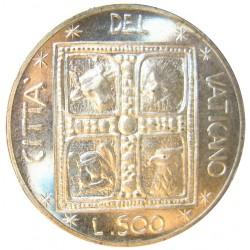Vaticano 500  Lira. 1977. AG. 11gr. (Año XV). Ø29mm. SC. KM. 132