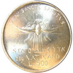 Vaticano 500  Lira. 1978. AG. 11gr. Ley:0,835. Ø29mm. SC. KM. 141