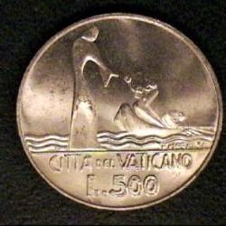 Vaticano 500  Lira. 1978. AG. 11gr. (Año XVI). Ø29mm. SC. KM. 139