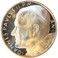 Vaticano 500  Lira. 1980. AG. 11gr. Ley:0,835. (Año II). Ø28mm. SC. KM. 148