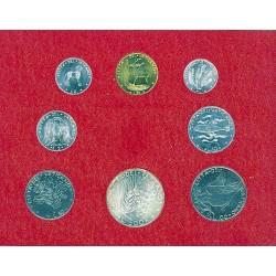 Vaticano Serie. 1971. AG+NI+CU. (Las 500 liras en plata). (Serie Oficial-(Año IX)-:8 val.:de 1 a 500 Liras). SC. KM. MS75