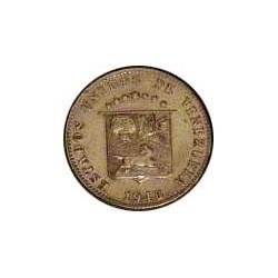 Venezuela 12,5 Cts. 1948. CUNI. 4,95gr. (12½ Cts.). Ø33mm. SC/SC-. (Lev.falta en listel). MUY ESCASO/A. KM. 30 a