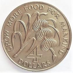 Vicent.-St. 4 Dolar. 1970. NI. 28,11gr. (Desarrollo del Caribe). (Lucha contra el hambre-Fao). Ø38mm. SC. RARO/A. (Unico tipo m