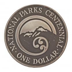 Nueva Zelanda 1 Dolar. 1987. AG. 27,216gr. Ley:0,925. (Montñas.Diseño Circular)). Ø38mm. PRF. KM. 65 a