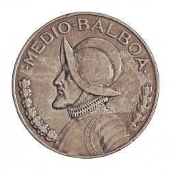 Panama ½ Balboa. 1930. AG. 11,34gr. Ley:0,900. (N.de Balboa). Ø30mm. MBC. KM. 12.1