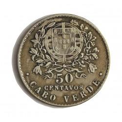 Cabo Verde 50  Ctvo.  1930. CUNI. 4,5gr. Ø22mm. MBC+/EBC-. MUY ESCASO/A. en esta conservacion. KM. 4
