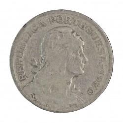 Cabo Verde 1  Escudos. 1930. CUNI. 10gr. Ø26,5mm. BC+. MUY ESCASO/A. KM. 5